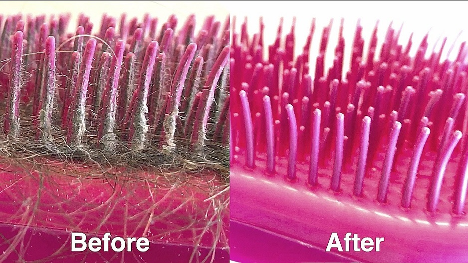 clean a tangle teezer